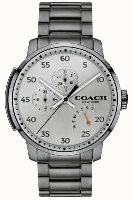 Coach Mens bleecker multifuncional relógio cinza 14602360