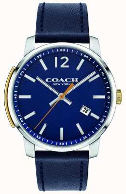 Coach Mens bleecker multifuncional relógio azul 14602343