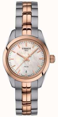 Tissot Senhoras pr100 mãe de pulseira de dois tons de relógio de discagem pérola T1010102211101