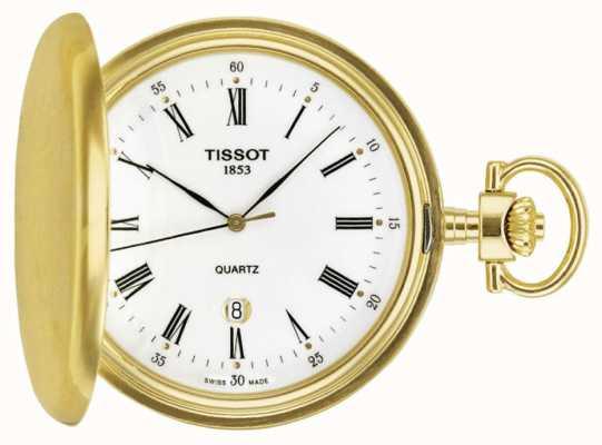 Tissot Relógio de bolso de savonette banhado a ouro swiss made T83455313