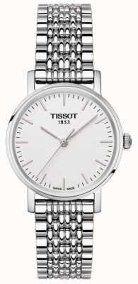 Tissot Womens everytime pulseira de aço inoxidável pulseira de prata T1092101103100