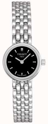Tissot Das mulheres encantadoras de aço inoxidável preto dial swiss made T0580091105100