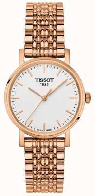 Tissot Womens everytime rosa banhado a ouro mostrador cinza T1092103303100
