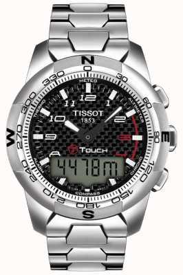 Tissot Cronógrafo de alarme de titânio para homem t-touch ii T0474204420700