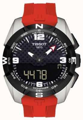 Tissot Cronógrafo solar de alarme de titânio t-touch para homem T0914204705700