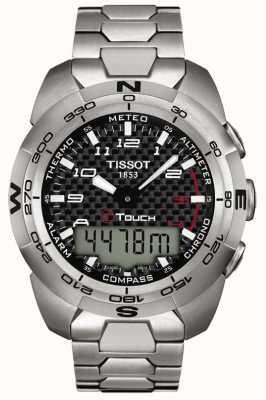 Tissot Cronógrafo de titânio perito em t-touch para homem T0134204420200