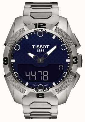 Tissot Mens t-touch titânio perito solar alarme chrono T0914204404100