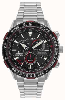 Citizen Flechas vermelhas Mens edição especial controlada por rádio eco-drive CB5008-82E