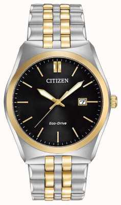 Citizen Eco-drive corso wr100 | mostrador preto | cinta de aço inoxidável | BM7334-58E