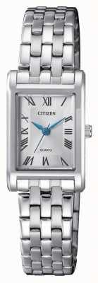 Citizen Pulseira de prata de quartzo para mulher EJ6120-54A