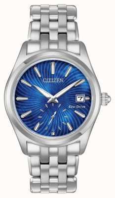 Citizen Womens eco-drive azul dial aço inoxidável wr100 EV1030-57N