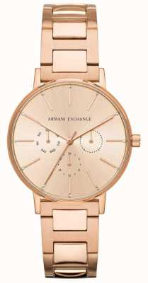 Armani Exchange As mulheres de Lola aumentaram o pvd do ouro chapeado AX5552