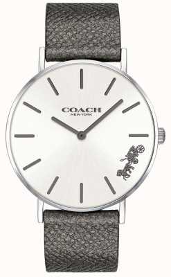 Coach Relógio de pulseira de couro cinza perry para mulher 14503155