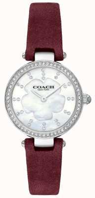 Coach Womens luxo moderno pulseira de couro pulseira de madrepérola 14503102