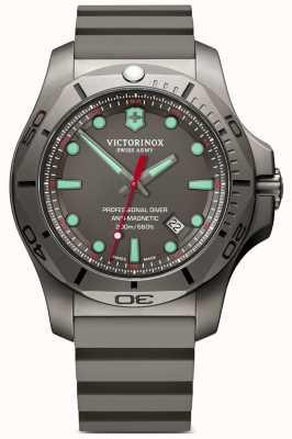 Victorinox Swiss Army Cinta de borracha cinza Inox profissional mergulhador titânio 241810