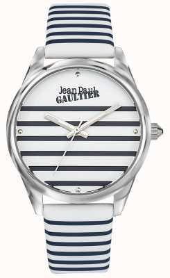 Jean Paul Gaultier Bracelete de couro para relógio das mulheres da marinha JP8502416