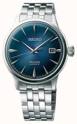 Seiko Presage automático pulseira de aço inoxidável mostrador azul SRPB41J1