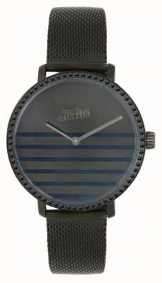 Jean Paul Gaultier Relógio glam navy gunmental de malha para mulher 8505602