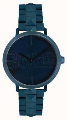 Jean Paul Gaultier Relógio de pulseira tom azul menina má das mulheres 8505702