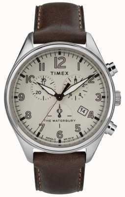Timex Mens a waterbury tradicional bronzeado chrono couro marrom TW2R88200