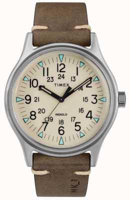 Timex Mens mk1 sst chrono 40 milímetros caso pulseira de couro marrom TW2R96800