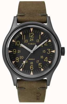Timex Mens mk1 sst chrono 40 milímetros caso preto mostrador preto pulseira de oliva TW2R97000