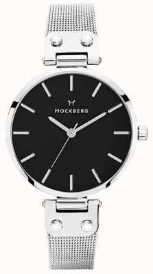 Mockberg Malha de aço inoxidável elise noir para mulher MO1604