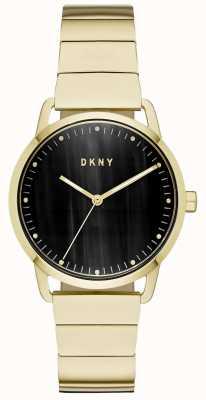 DKNY Relógio de pulseira de couro azul marinho para mulher NY2756