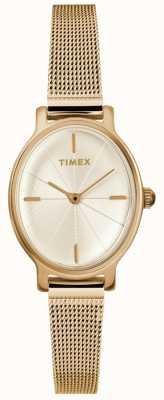 Timex Relógio de malha de ouro oval de senhora milano TW2R94400D7PF