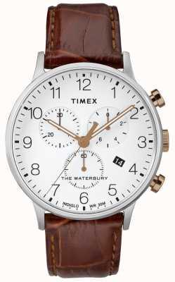 Timex Waterbury clássico dos homens relógio cronógrafo mostrador branco TW2R72100D7PF
