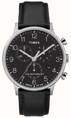 Timex Waterbury clássico dos homens relógio cronógrafo pulseira preta TW2R96100D7PF