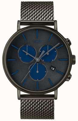 Timex Fairfield supernova cronógrafo relógio pulseira de malha cinza TW2R98000D7PF