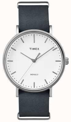 Timex Fairfield pulseira preta 3 relógio de mão TWF3C8140UK