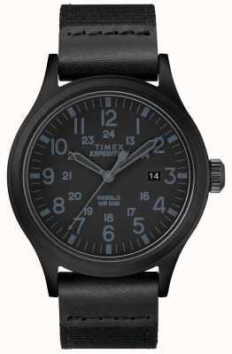 Timex Batedor de expedição relógio pulseira de tecido preto TW4B14200D7PF