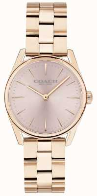 Coach Womens modern luxury rose pulseira de tom de ouro 14503206
