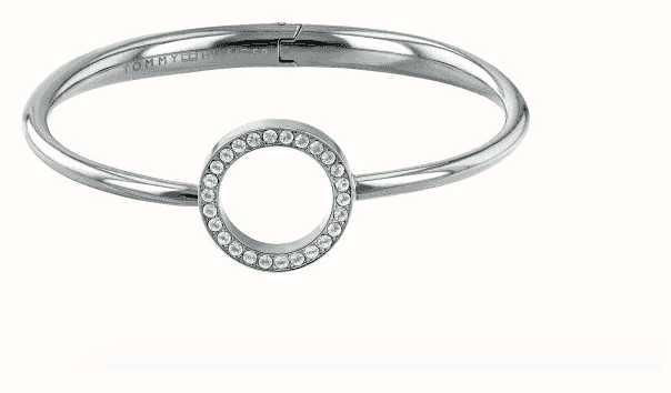 Tommy Hilfiger Conjunto de pedra pulseira de aço de círculo aberto 2780064