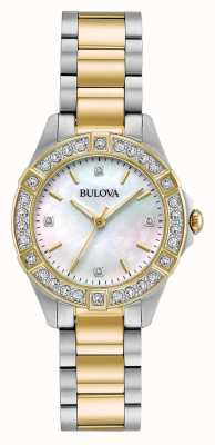 Bulova Womens two tone diamond set assista 98R236