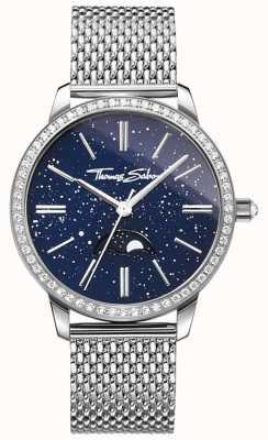 Thomas Sabo Womens glam e soul moonphase assistir pulseira de malha de prata WA0326-201-209-33