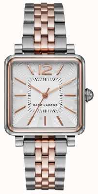 Marc Jacobs Relógio vic de duas mulheres pulseira de discagem quadrada MJ3463