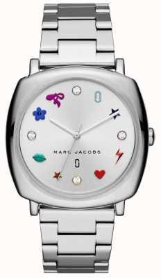 Marc Jacobs Tom de prata do relógio das mulheres mandy MJ3548