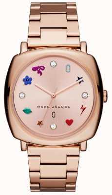 Marc Jacobs Relógio mandy de mulher rosa tom de ouro MJ3550