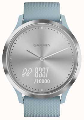 Garmin Vivomove hr atividade rastreador azul borracha prateado discar 010-01850-08