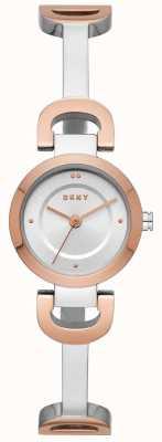 DKNY Womens city link pulseira de aço inoxidável relógio NY2749