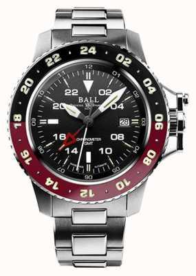 Ball Watch Company Engenheiro de hidrocarboneto aerogmt ii 42mm mostrador preto DG2018C-S3C-BK