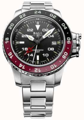 Ball Watch Company Engenheiro hidrocarboneto aerogmt ii 42mm mostrador preto DG2018C-S3C-BK