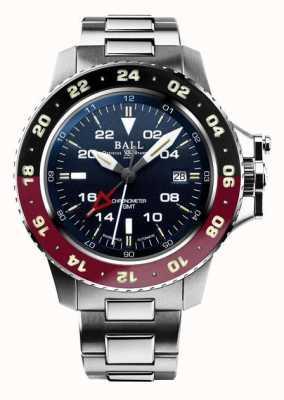Ball Watch Company Engenheiro de hidrocarboneto aerogmt ii 42mm mostrador azul DG2018C-S3C-BE