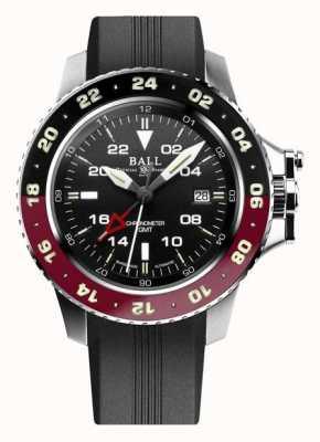 Ball Watch Company Engenheiro de hidrocarboneto aerogmt ii 42mm mostrador preto DG2018C-P3C-BK