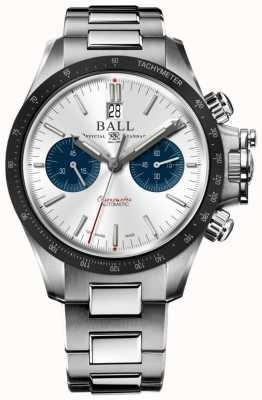 Ball Watch Company Engenheiro de hidrocarbono racer cronógrafo 42 milímetros de discagem de prata CM2198C-S1CJ-SL