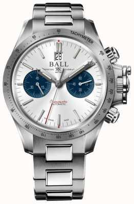 Ball Watch Company Engenheiro de hidrocarbono racer cronógrafo 42 milímetros mostrador prateado CM2198C-S2CJ-SL