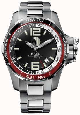 Ball Watch Company Engenheiro relógio de maré de hidrocarboneto 42mm DM3320C-SAJ-BK